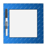 Modern Blue Abstract. Thin Ovals Pattern. Dry-Erase Whiteboard