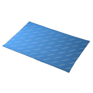 Modern Blue Abstract. Thin Ovals Pattern. Placemat
