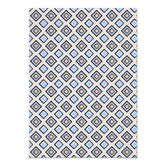 Modern Blue and Gray Confetti Squares Geo Pattern Card