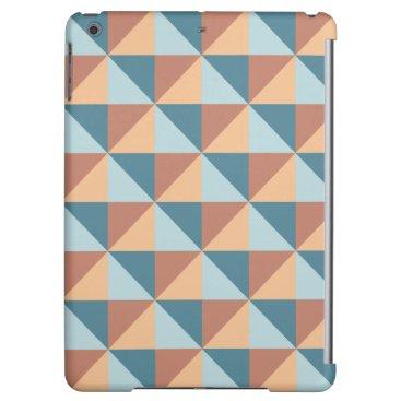 Modern Blue and Orange Geometric Triangle Pattern Case For iPad Air