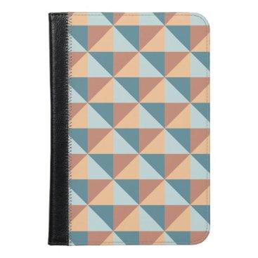 Modern Blue and Orange Geometric Triangle Pattern iPad Mini Case