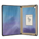 Modern Blue and Purple Chalk Pastel Abstract Art iPad Mini Retina Cover
