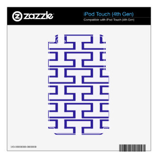 Modern Blue and White Bricks Decals For iPod Touch 4G