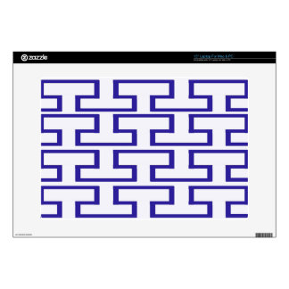 Modern Blue and White Bricks Decals For Laptops