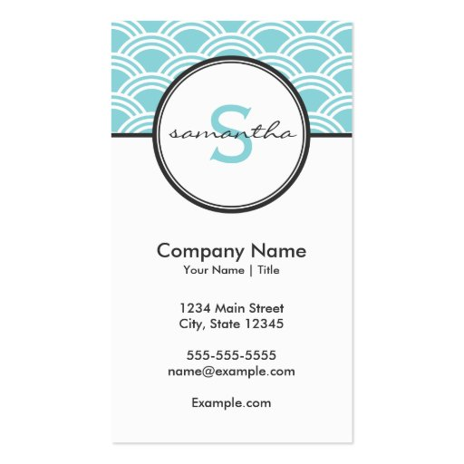 Modern Blue and White Business Card Template