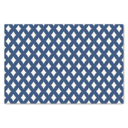 Modern Blue and White Diamond Tissue Paper