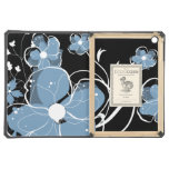 Modern Blue and White Floral Design Cover For iPad Air