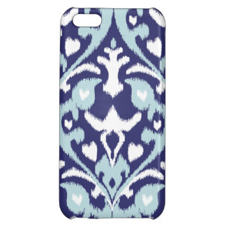 Modern blue and white girly ikat tribal pattern iPhone 5C cover
