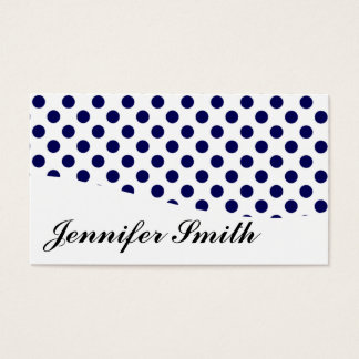 Modern Blue and White Polka Dot Business Cards