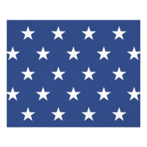 Modern Blue and White Star Pattern Flyer