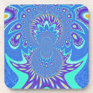 Modern Blue art Drink Coaster