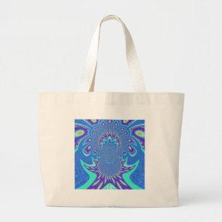 Modern Blue art Large Tote Bag