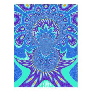 Modern Blue art Postcard
