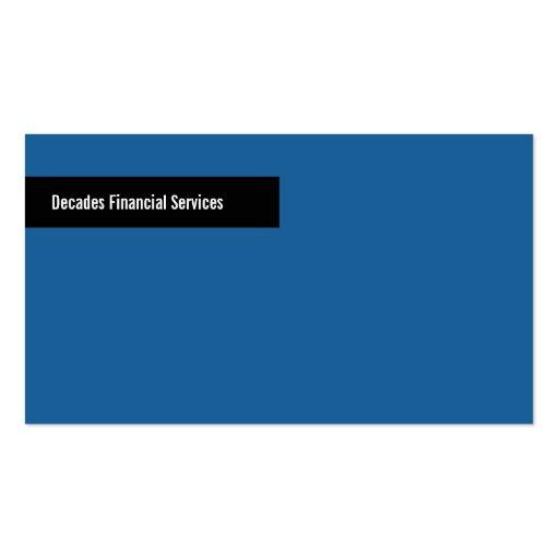 Modern Blue & Black Business Card
