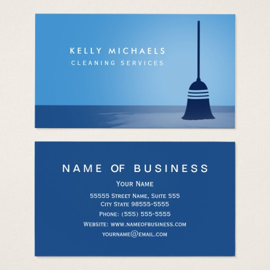 Elegant cleaning business cards choice image card design and card modern blue broom elegant cleaning services business card zazzle modern blue broom elegant cleaning services business colourmoves