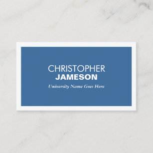 College students business cards zazzle modern blue business card for college students colourmoves