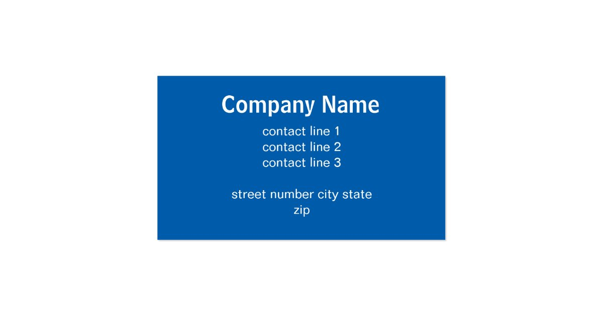 Modern blue business card template double sided zazzle for 2 sided business cards templates free