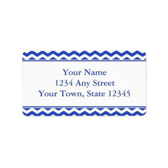 Modern Blue Chevron Pre-Printed Address Labels