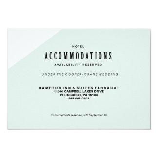 MODERN BLUE COLORBLOCKED WEDDING hotel card