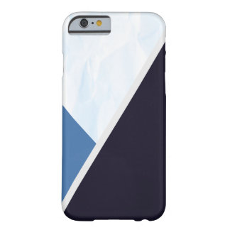 Modern Blue Colors Geometric Triangles Barely There iPhone 6 Case