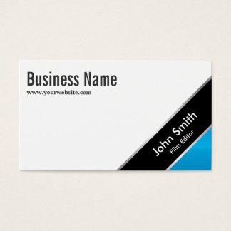 Modern Blue Corner Film Editor Business Card