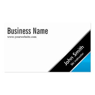 Modern Blue Corner Ski Business Card