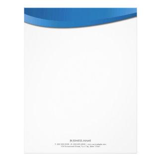 Modern Blue Curves Letterhead