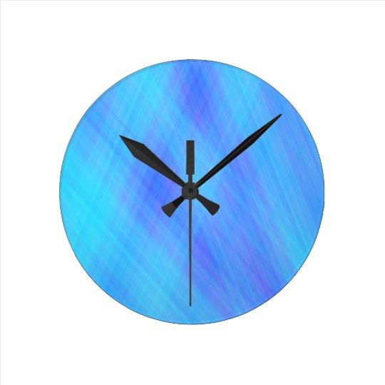 Modern blue Design Round Clock