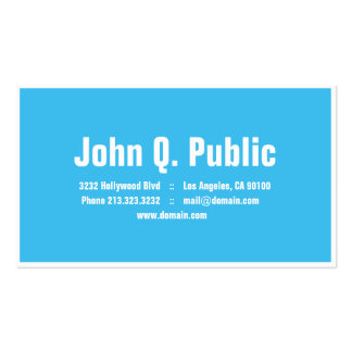 Modern Blue Design White Outline Double-Sided Standard Business Cards (Pack Of 100)