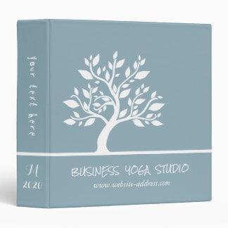 Modern Blue Elegant Classy Tree YOGA Instructor Binder