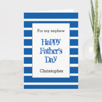 Modern Blue Father's Day Nephew Card