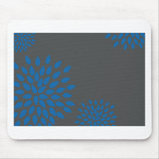 Modern Blue Flower Mouse Pad