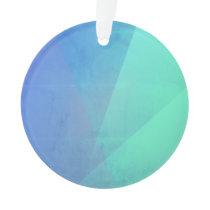 Modern Blue Geometric Gradation Ornament