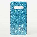 "Modern Blue Glitter Sparkles Personalized Name Samsung Galaxy S10  Case<br><div class=""desc"">Modern Blue Glitter Sparkles Personalized Name</div>"