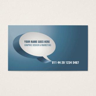 Modern Blue Green Business Card