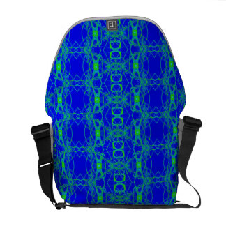 Modern blue green laced design courier bag