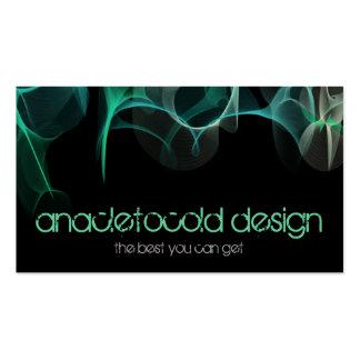 modern blue green smoke business card