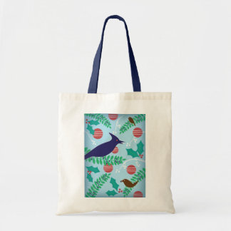 Modern Blue Jay Christmas Bag
