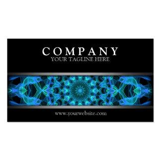 Modern Blue JellyFish Mandala Business Card