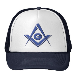 Modern Blue Lodge Mesh Hat