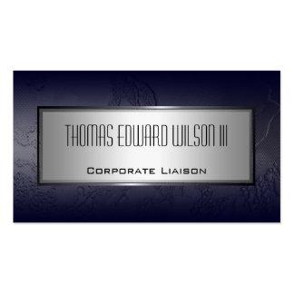 Modern Blue Minimalist Industrial Business Card