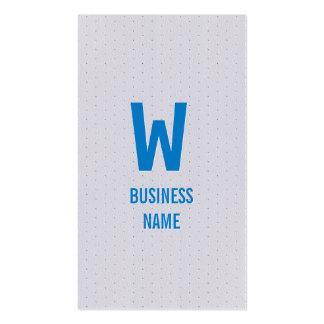 Modern Blue Monogram Announcer Business Card