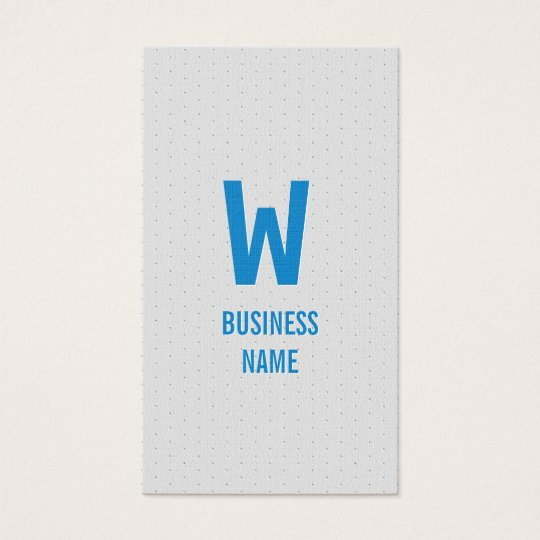 Modern Blue Monogram Bartender Business Card