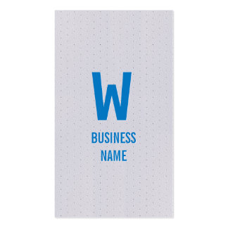 Modern Blue Monogram Ski Business Card
