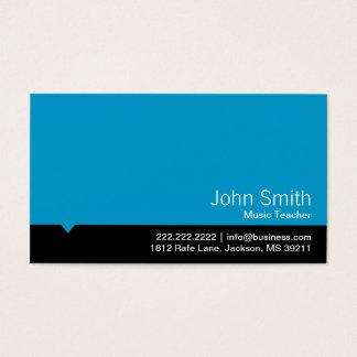 Modern Blue Music Teacher Business Card