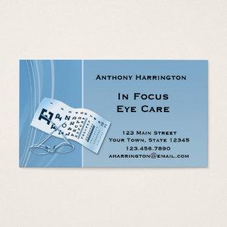 Modern Blue Optometrist Business Card