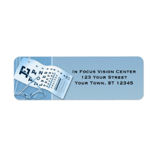 Modern Blue Optometrist Label