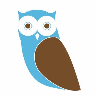 Modern Blue Owl Cutout