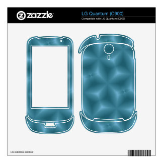 Modern blue pattern decal for the LG quantum