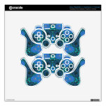 Modern Blue Pattern Skin For PS3 Controller